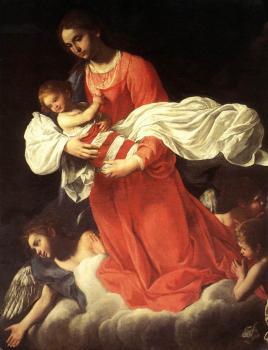 Giovanni Baglione : The Virgin and the Child with Angels